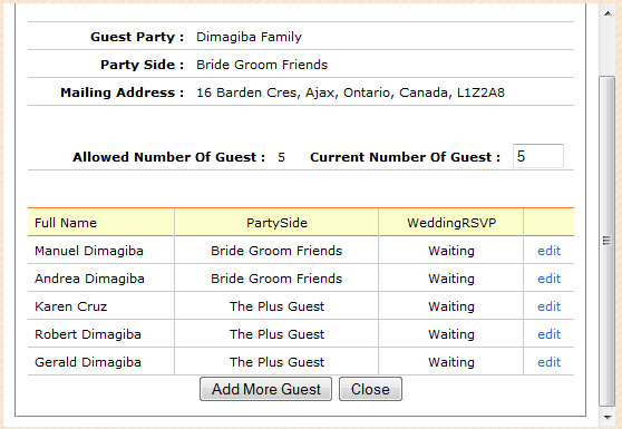 The Plus Guest And Added Members Of Jones Family Party Is Now Included In List See Screen Shot Below